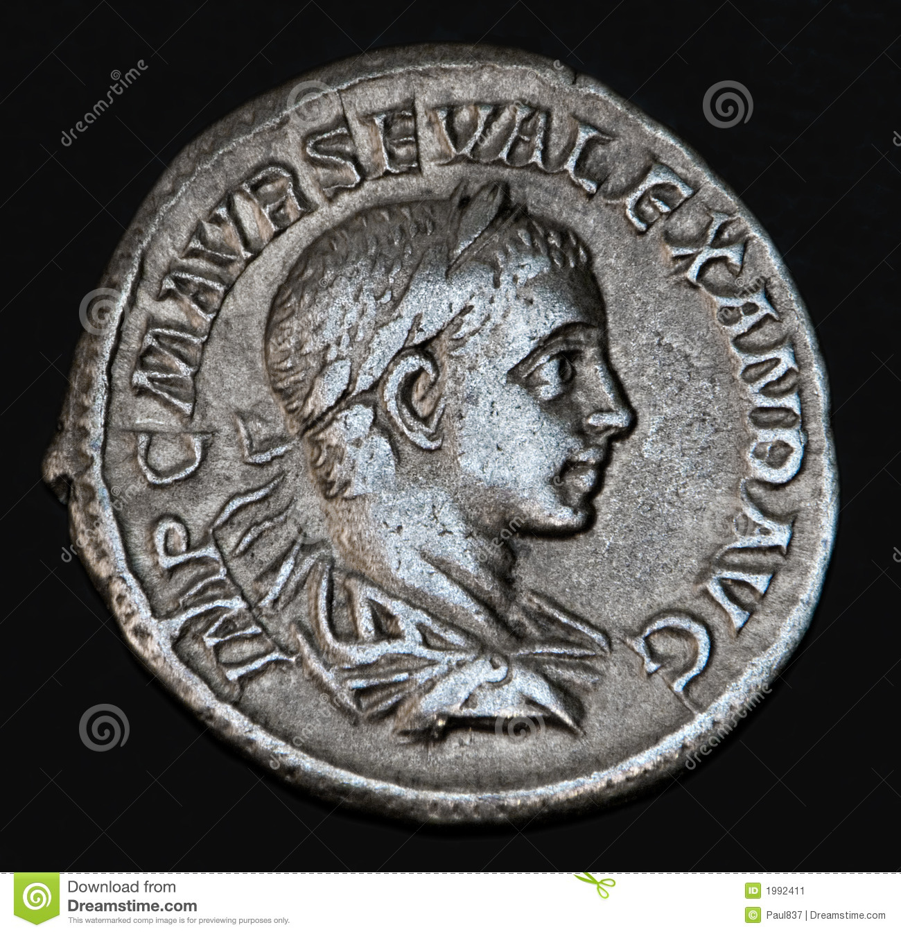 Ancient Roman Coin Geta Stock Image Image Of Numismatic