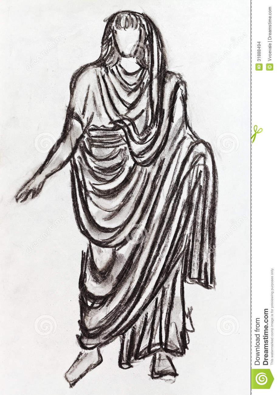 how to wear a sheet as a roman toga