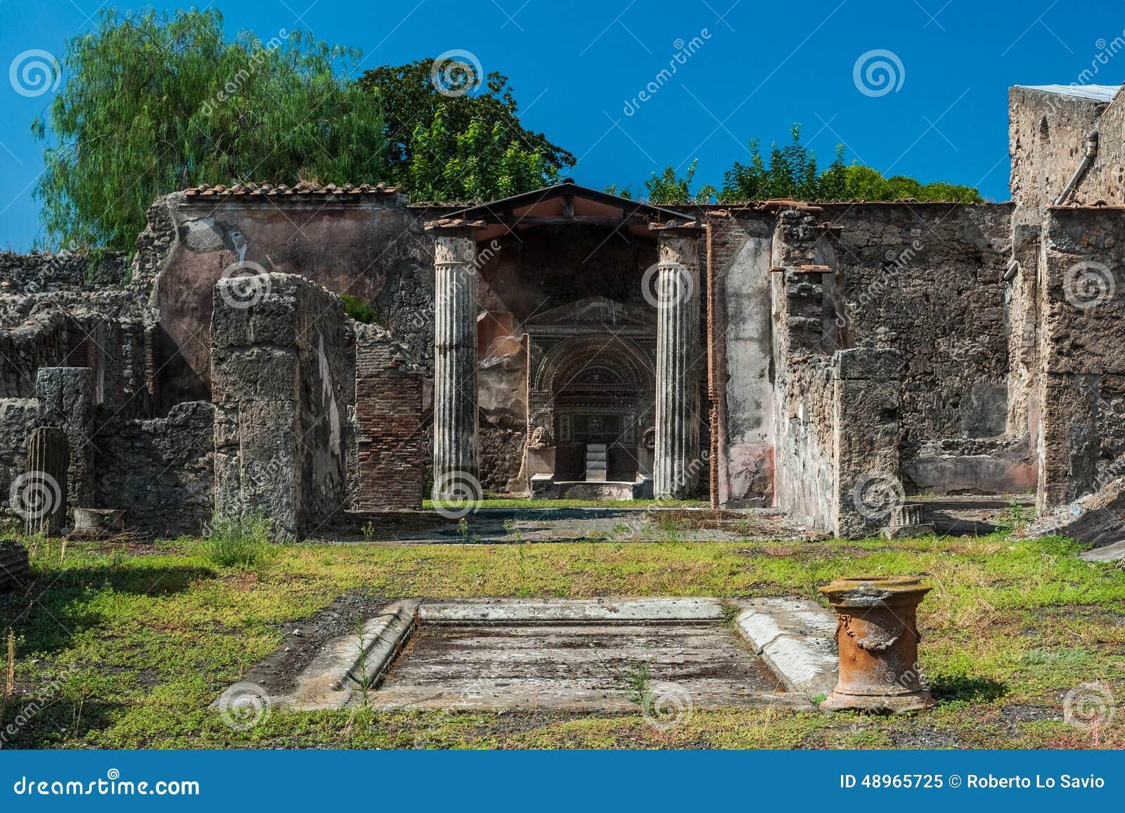 Ancient roman house stock photo image 48965725 - Maison romaine antique ...