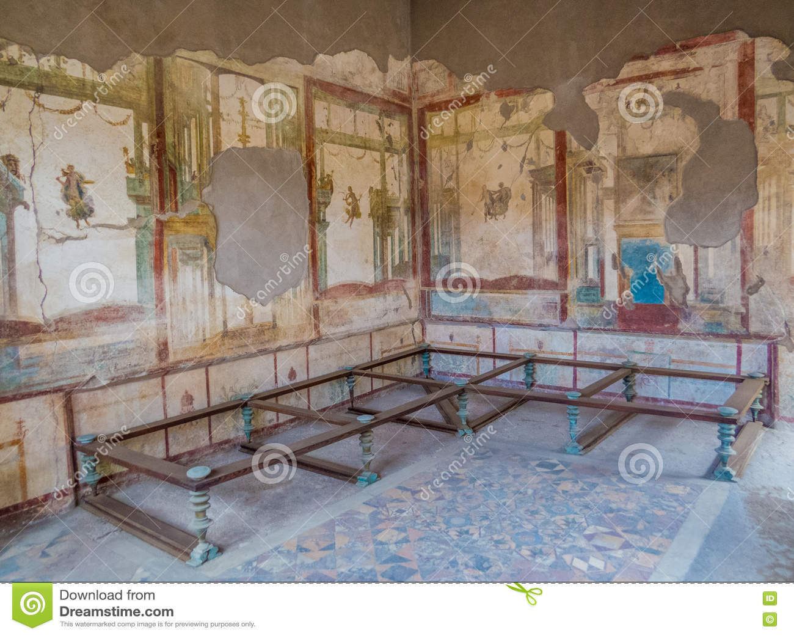 Ancient roman house in pompeii stock photo image 77932155 - Maison romaine antique ...