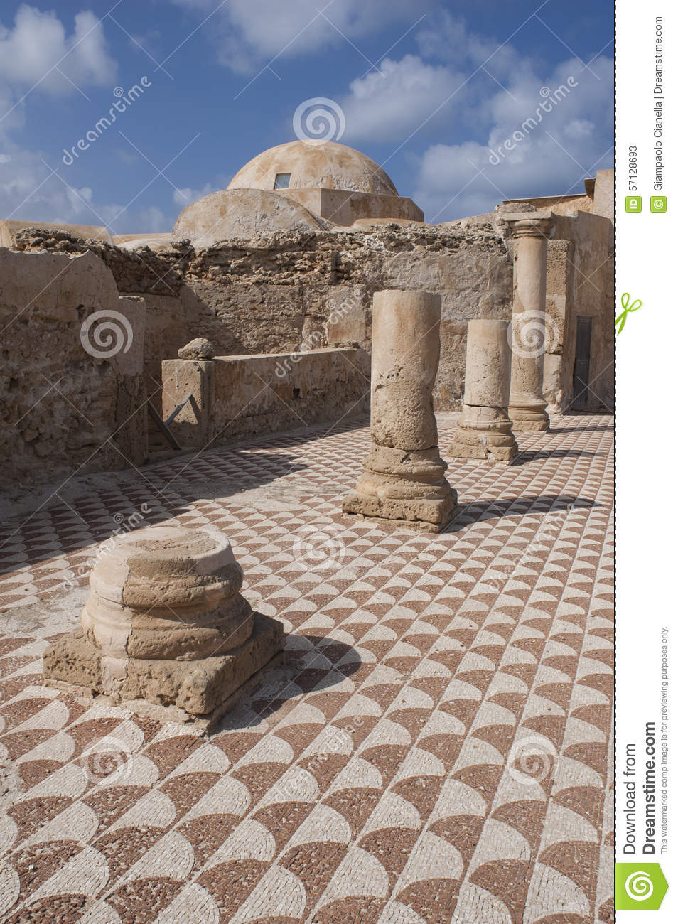 The ancient roman house villa sileen in libia stock photo image 57128693 - Maison romaine antique ...