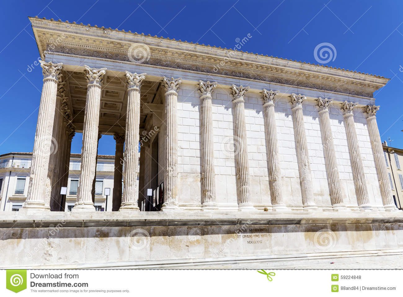 Ancient roman maison carree in nimes france stock photo - Maison carree nimes ...
