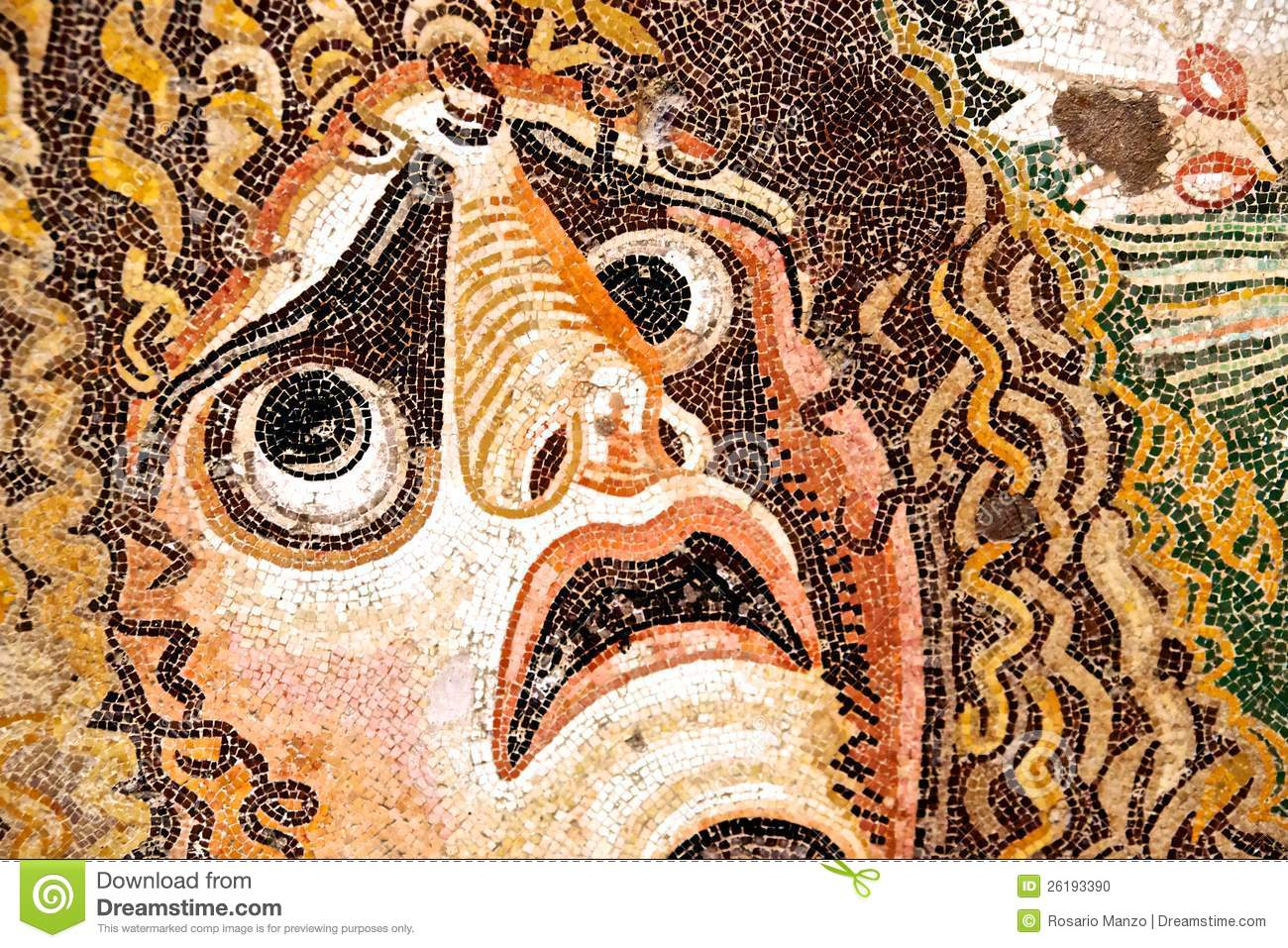 Picture: http://thumbs.dreamstime.com/z/ancient-roman-mosaic -fearful-face-26193390.jpg