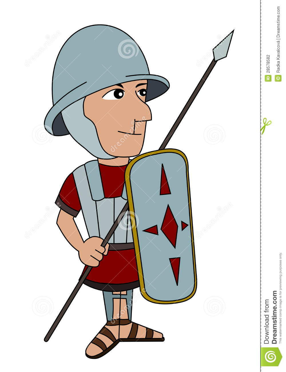 Punic wars illustration of a roman legionnaire isolated on a white
