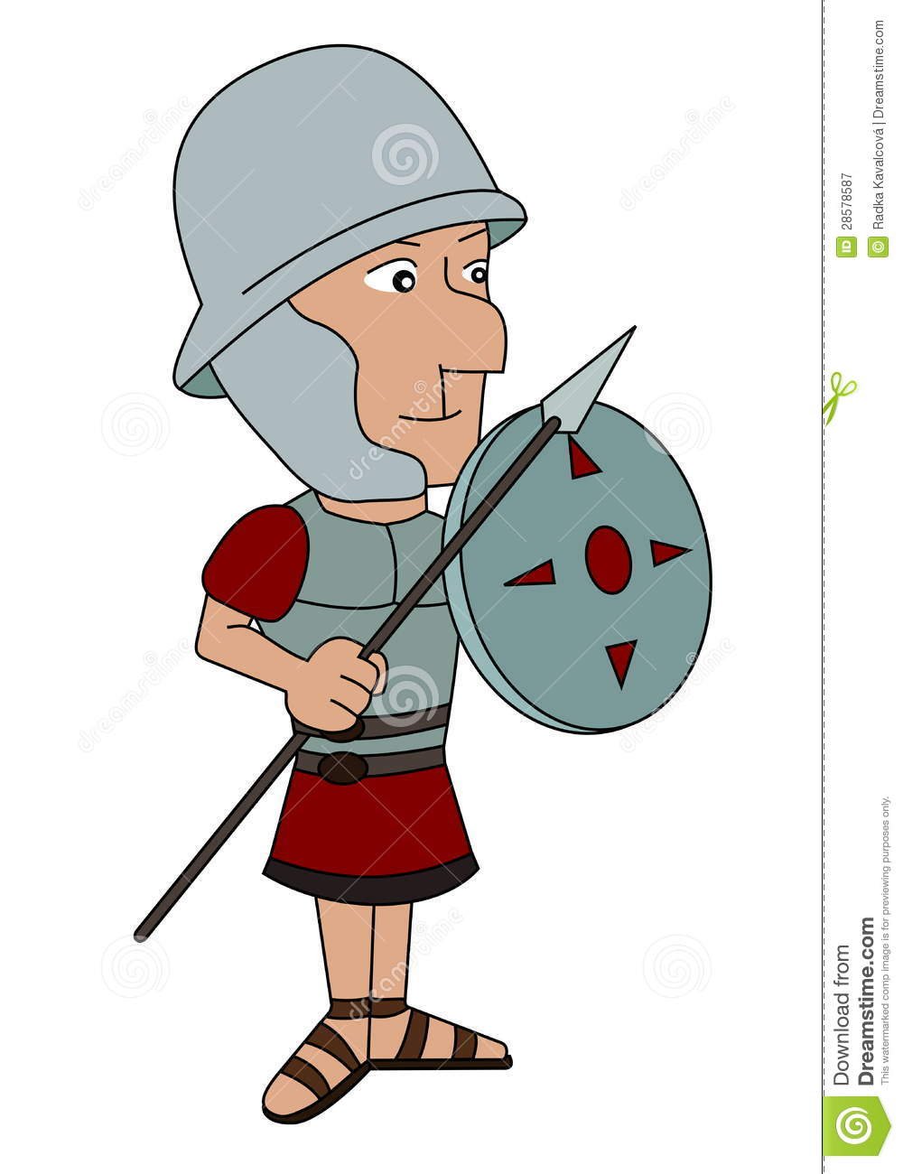 ancient roman soldier cartoon royalty free stock photography