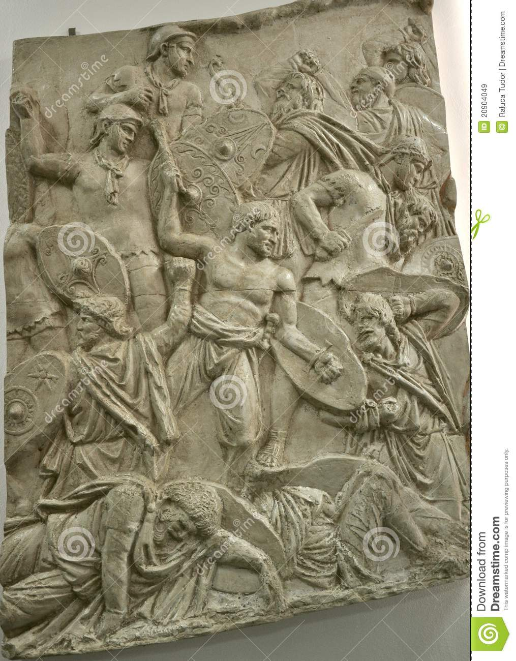 Ancient roman stone carving royalty free stock images