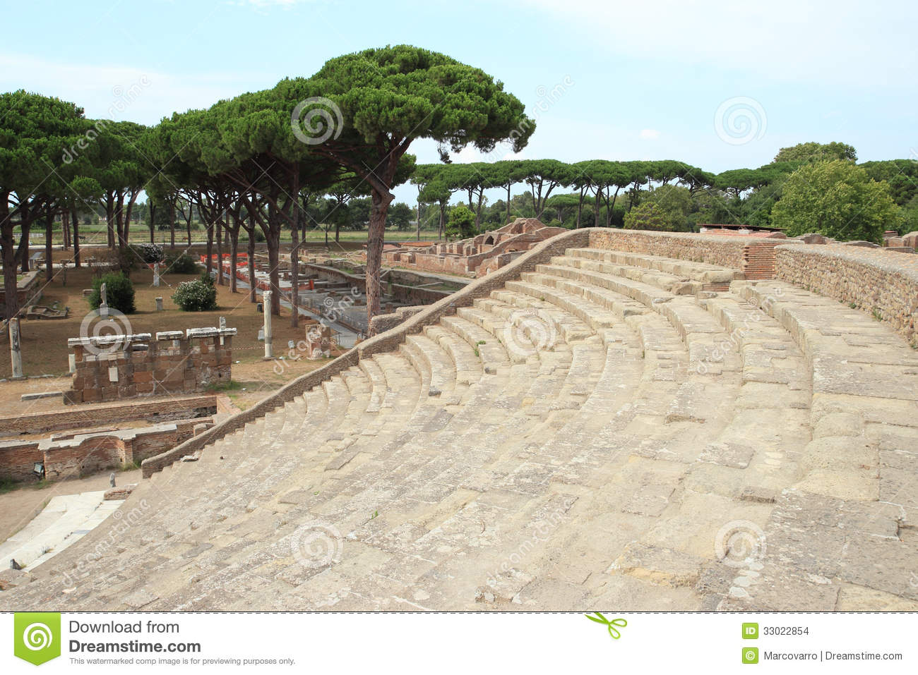 ancient roman theater stock images image 33022854