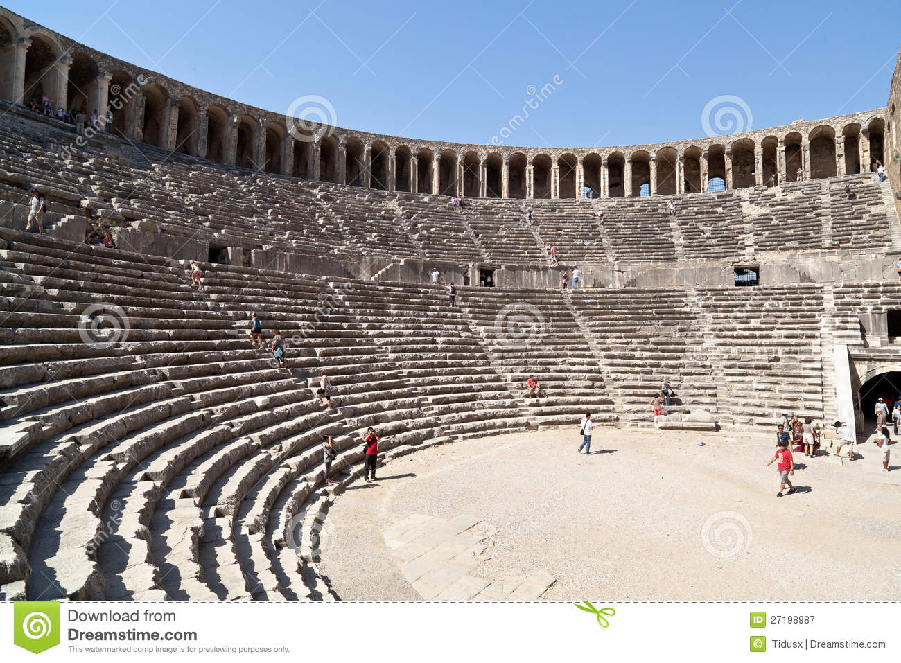 Beside pumkkale there is an ancient roman theatre the consturction