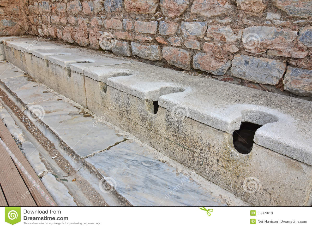 Ancient Roman Toilets Royalty Free Stock Images - Image: 35669819