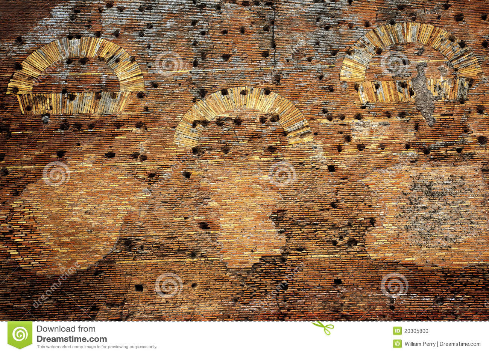 Ancient roman wall ruins ostia antica rome stock photo for Mr arredamenti ostia antica