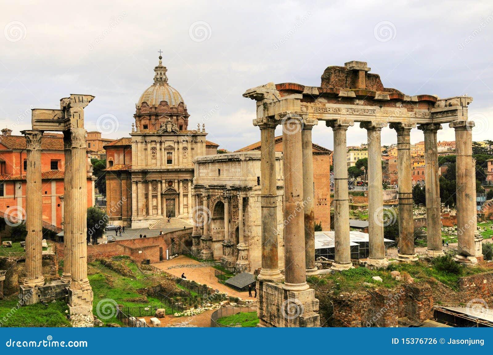 Ancient rome ruin building of rome city royalty free stock - Cuisine de la rome antique ...
