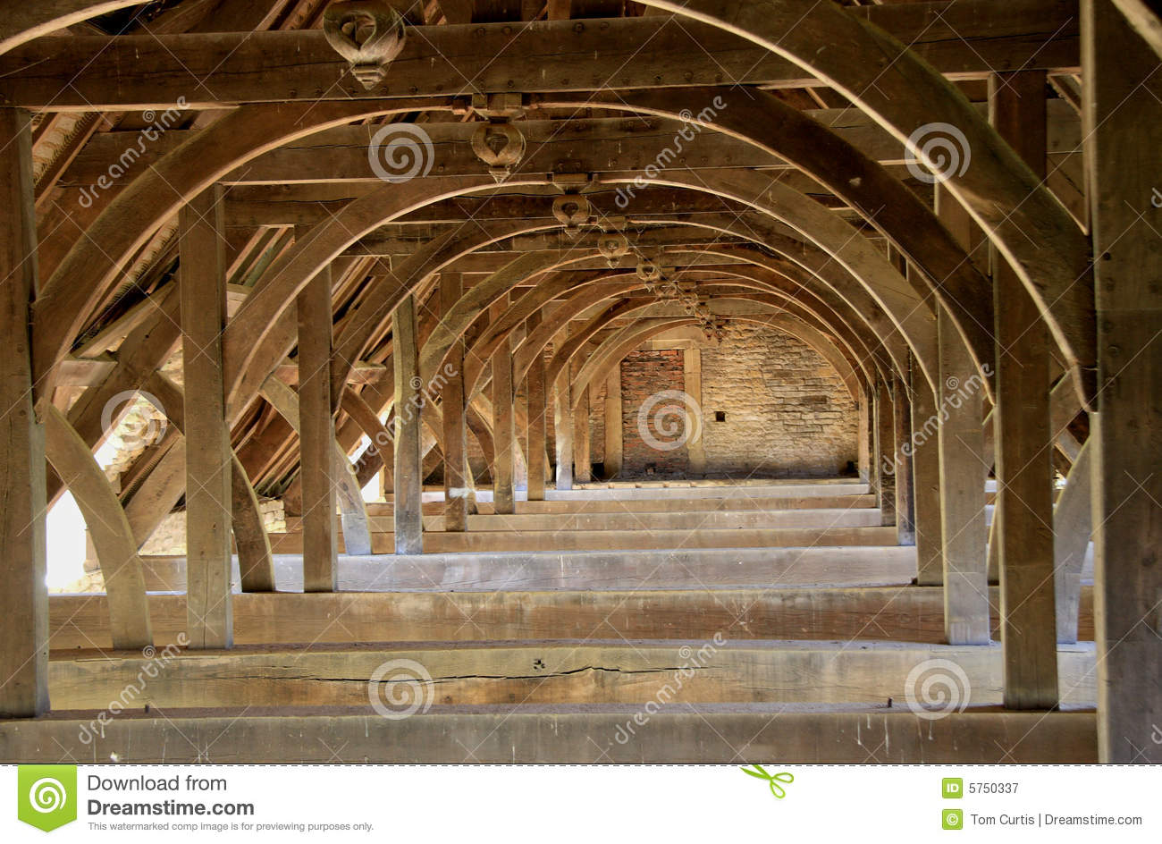 Ancient Roof Trusses Royalty Free Stock Photography