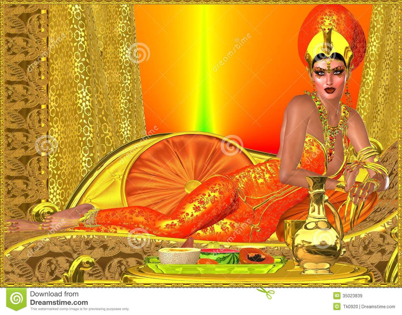 An Ancient Royal Egyptian Woman Royalty Free Stock Images
