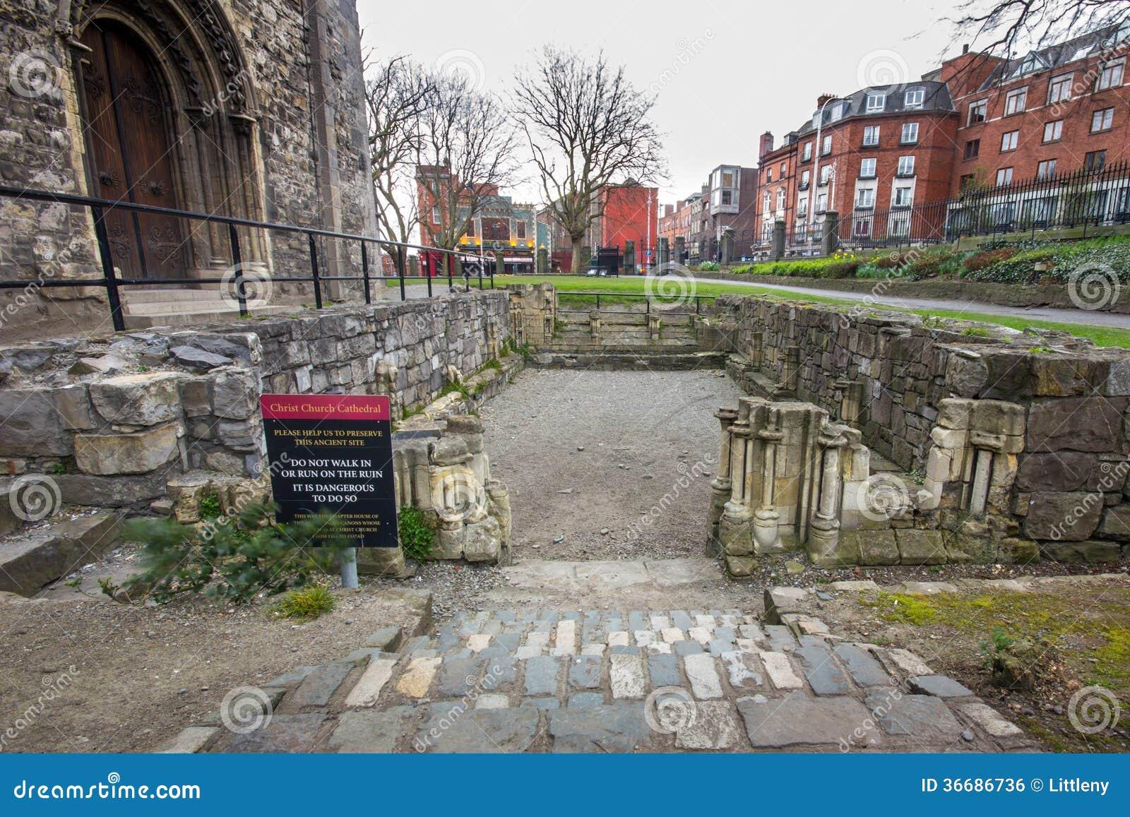 Ancient Ruins Christ Church Dublin