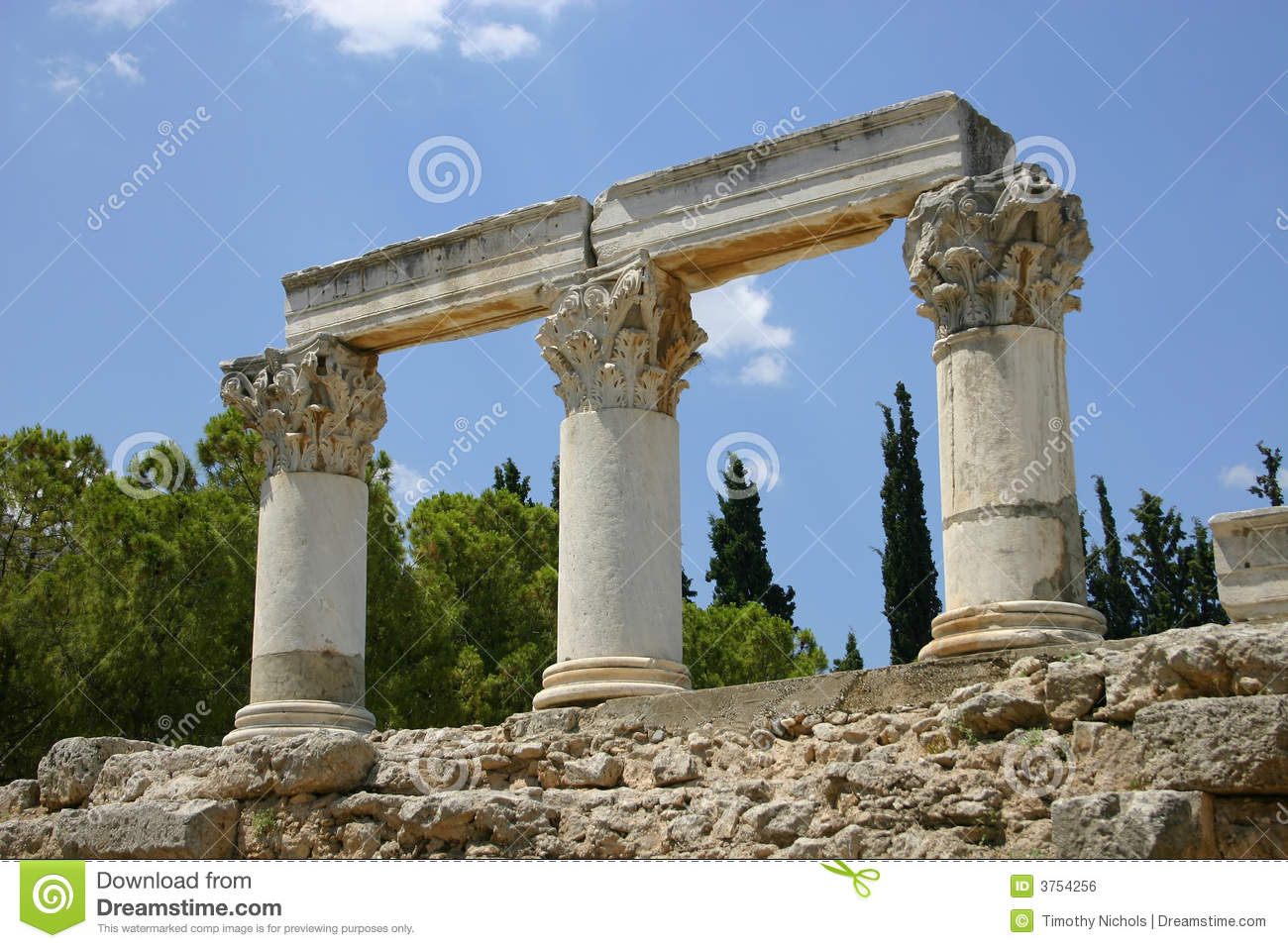 Ancient Ruins In Greece Royalty Free Stock Image - Image ... Greek Columns Vector