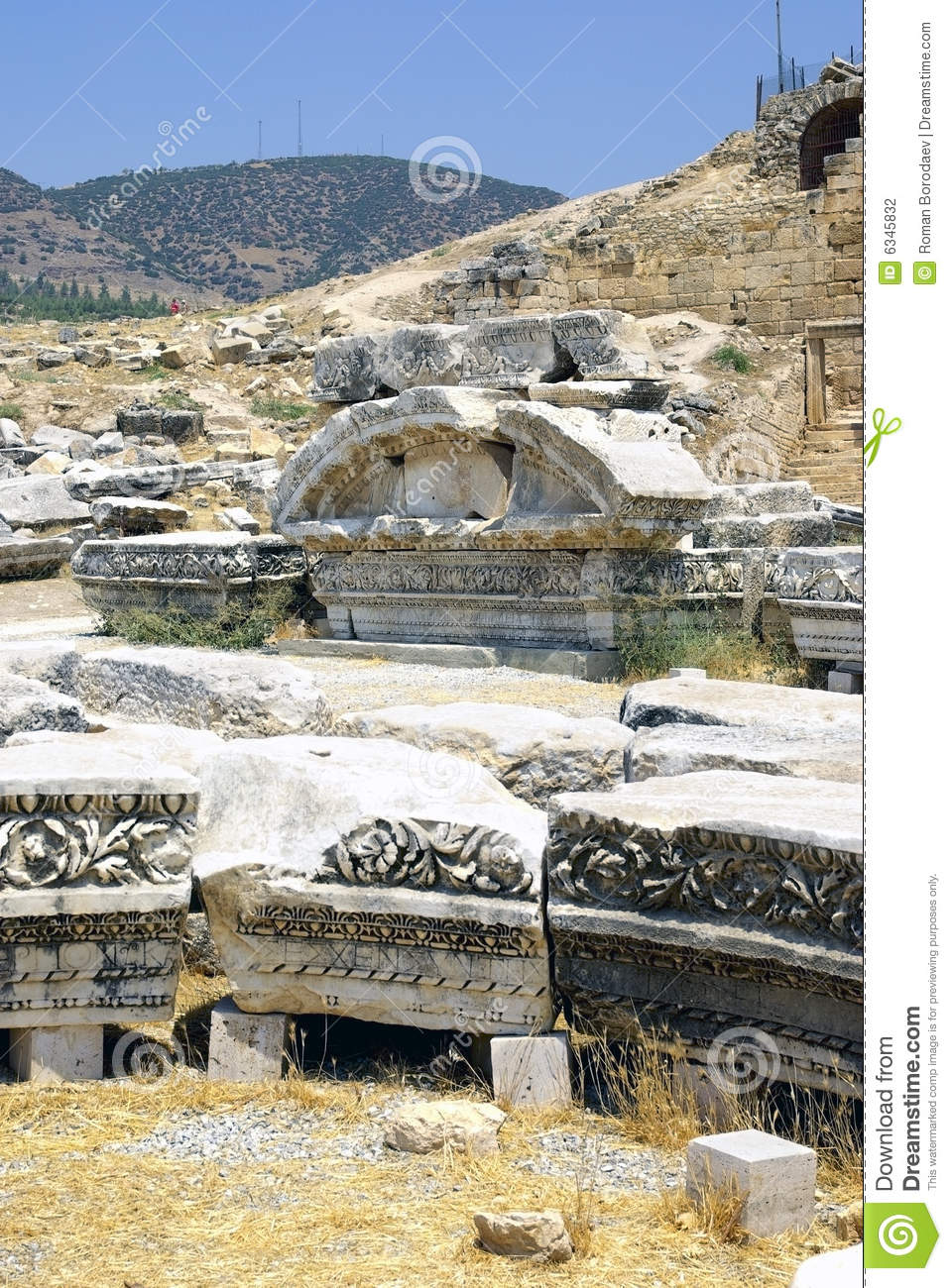 Ancient Ruins Of Hierapolis. Pamukkale, Turkey. Stock Photography - Image: 63...