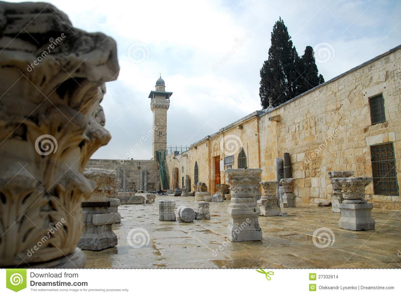 Ancient Ruins Of Old Jerusalem Stock Images - Image: 27332614