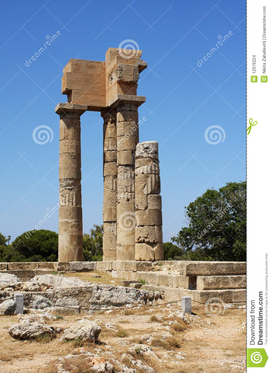 Ancient Ruins - Rhodes, Greece Stock Images - Image: 12976224