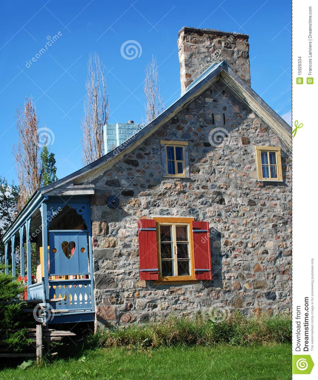 Ancient Rural Stone House In Quebec Canada Stock Photo Image 15926334