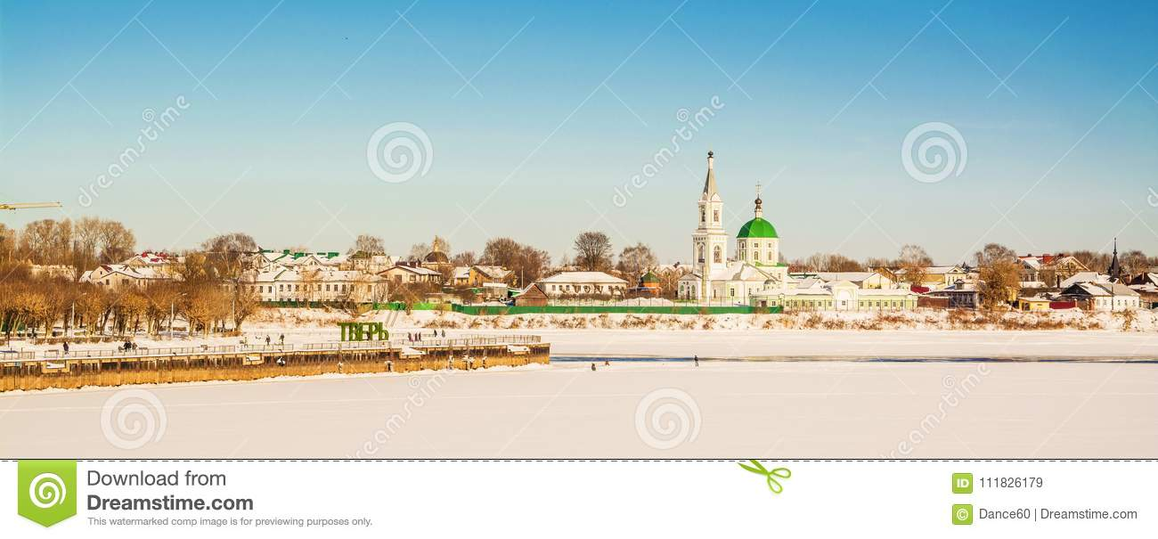 The ancient Russian city of Tver in the winter