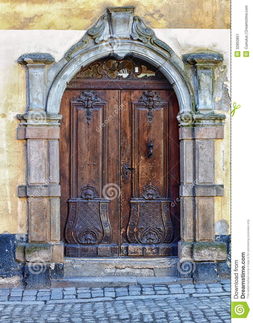 Ancient rustic wooden door stock image image 32850851 for Beautiful wood front doors