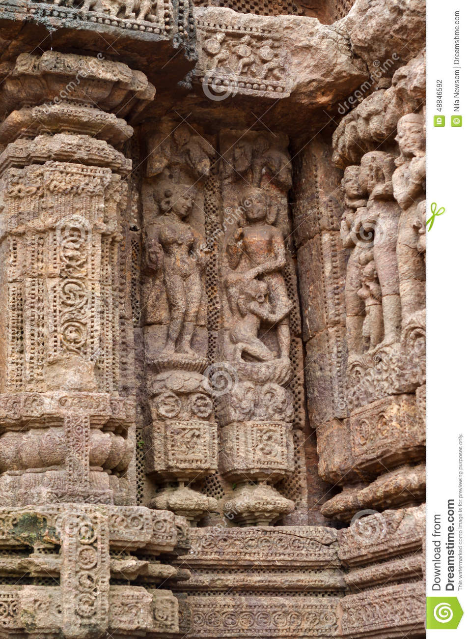 Ancient sandstone carvings stock photo image