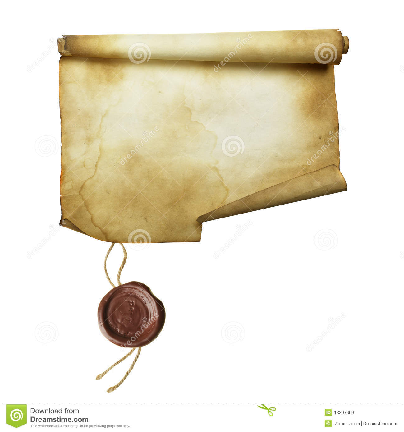 Ancient Scroll: Ancient Scroll Royalty Free Stock Images