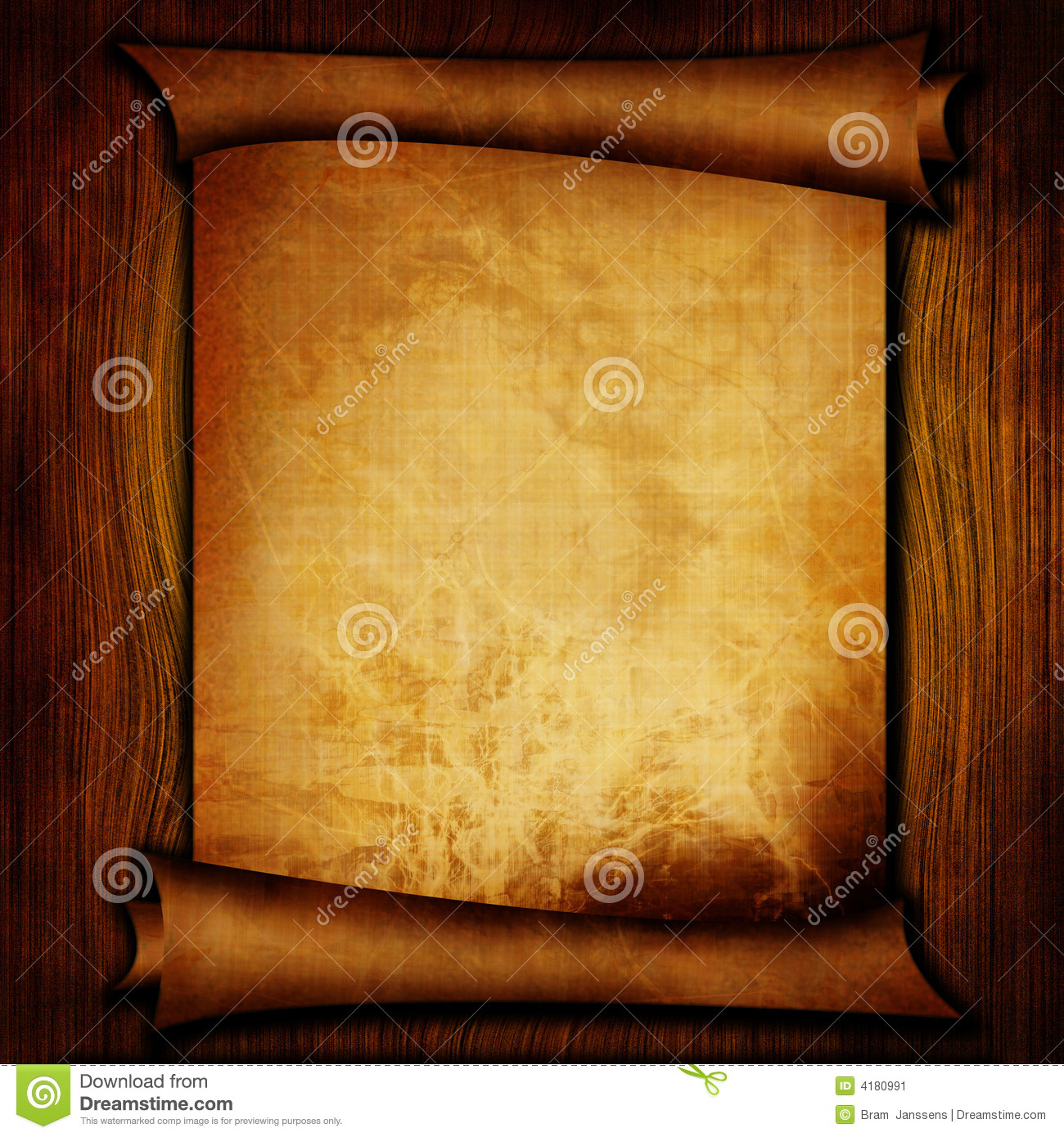 Ancient Scroll: Ancient Scroll Stock Image