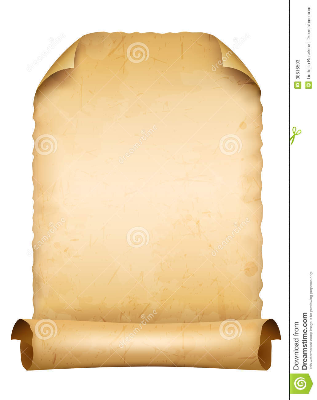 ancient scroll paper stock photos image 38616503