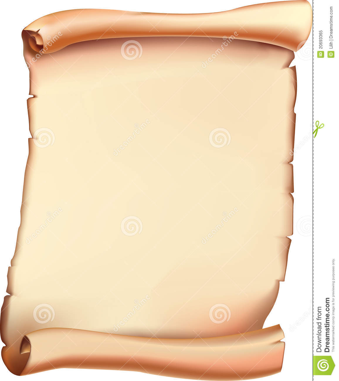 Ancient Scroll. Vector. Royalty Free Stock Photo - Image: 20693365