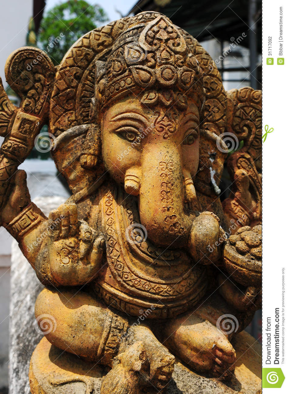 Ancient Sculpture Of Indian God Stock Photography - Image ...