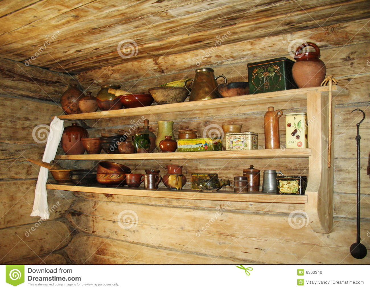 Shelf For Kitchen Ancient Shelf For Kitchen Utensils Stock Photo Image 6360340