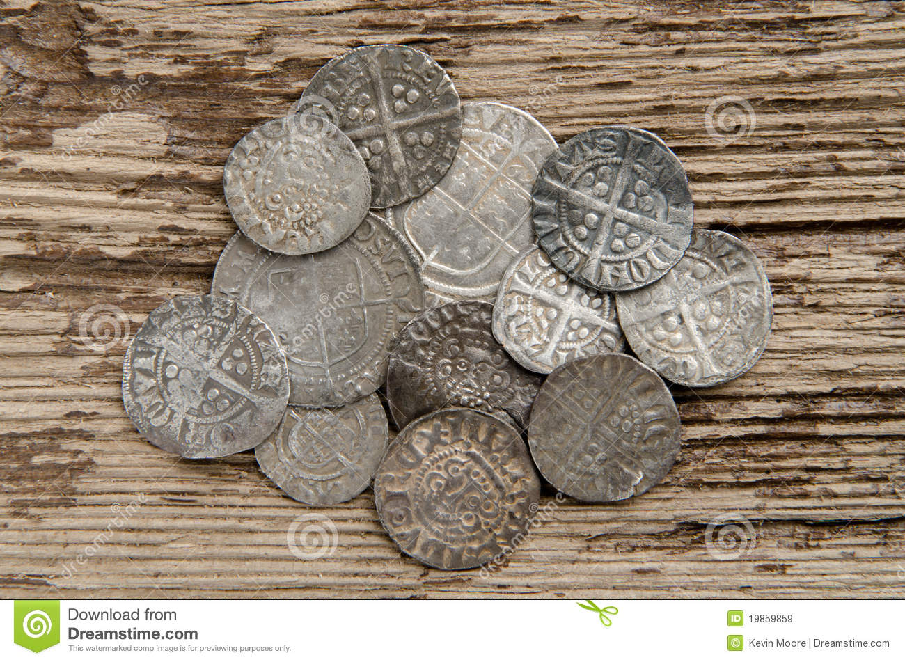 Ancient Silver Coins Stock Image Image Of Antique Money