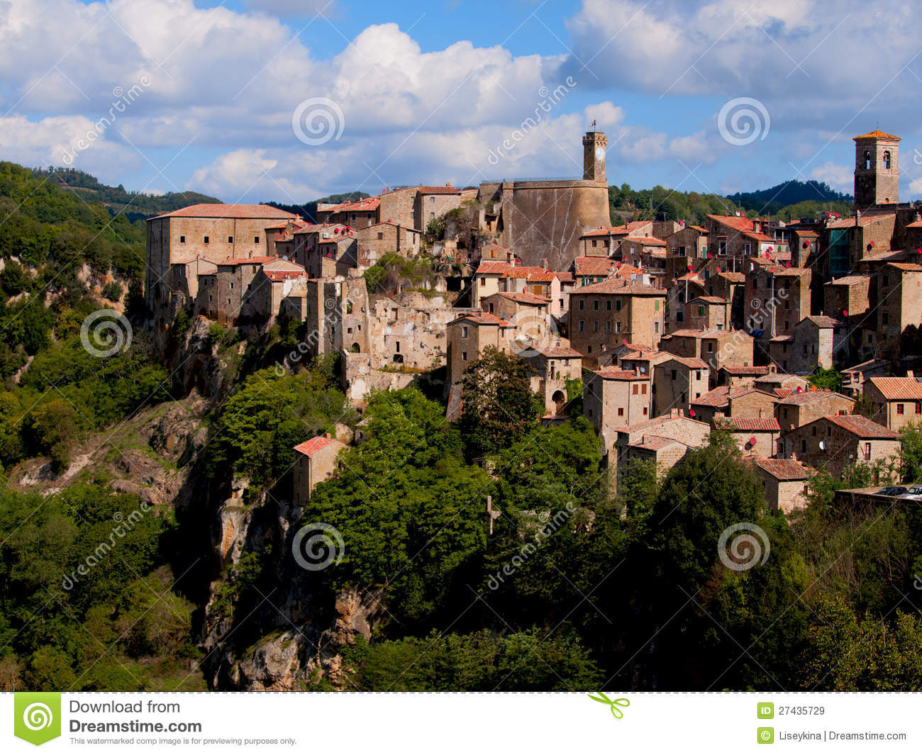 Sorano Italy  city photo : Ancient Sorano Town. Italy Royalty Free Stock Images Image: 27435729