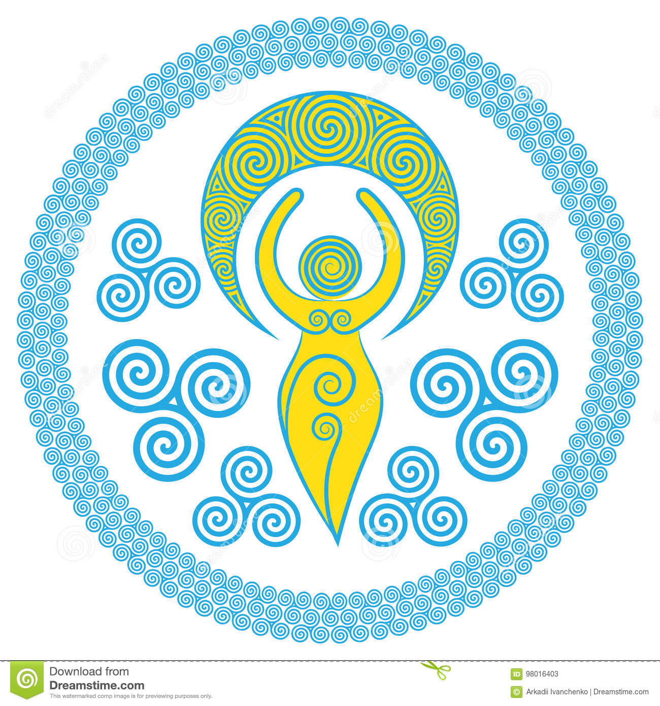 Ancient Spiral Goddess: This delicate Goddess represents the creative powers of the Divine Feminine, and the never ending circle o