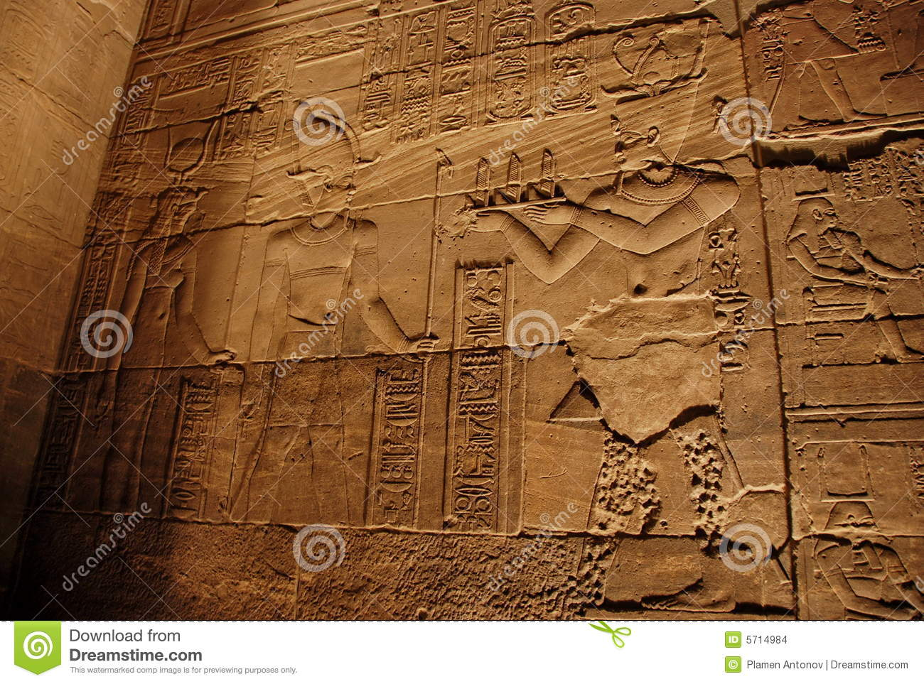 Ancient stone carvings stock images image