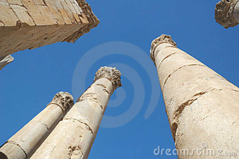 Ancient Stone Pillars : Royalty free stock images ancient stone columns image