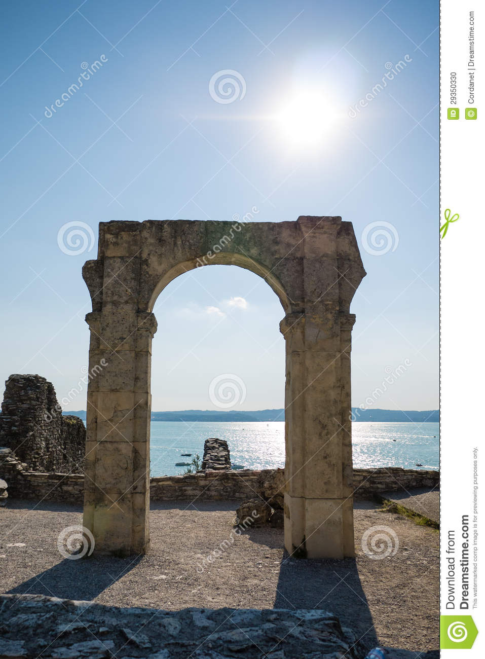 Ancient Stone Portal Stock Photo Image Of Garda