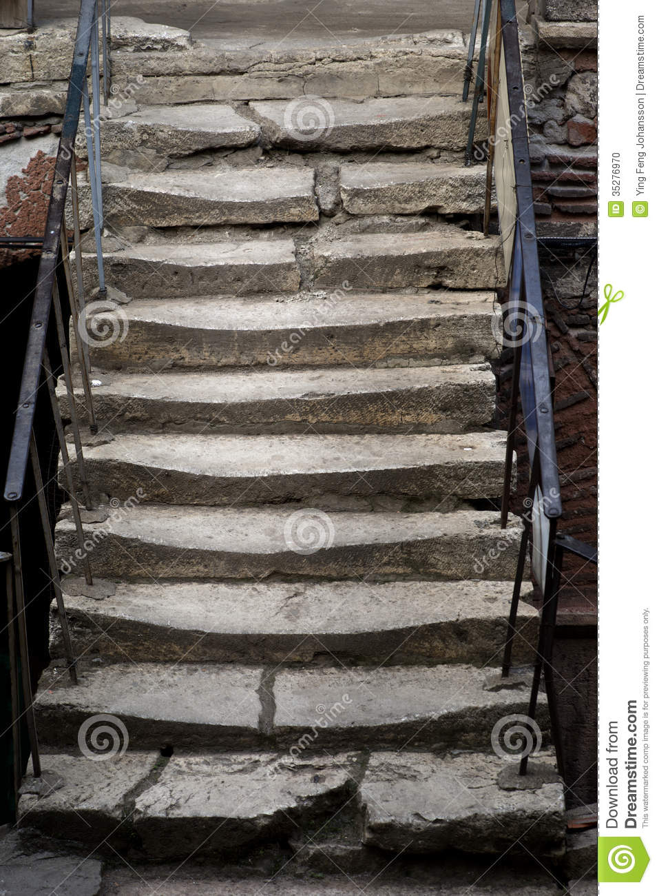 Ancient Stone Staircase Stock Photo Image 35276970