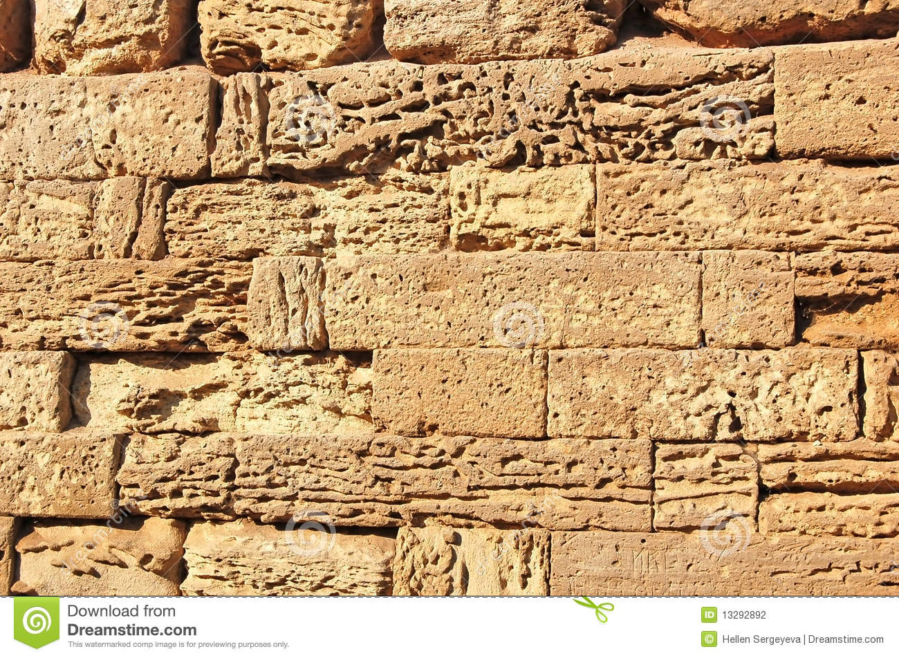 Ancient Stone Wall : Ancient stone wall stock photo image of sandstone