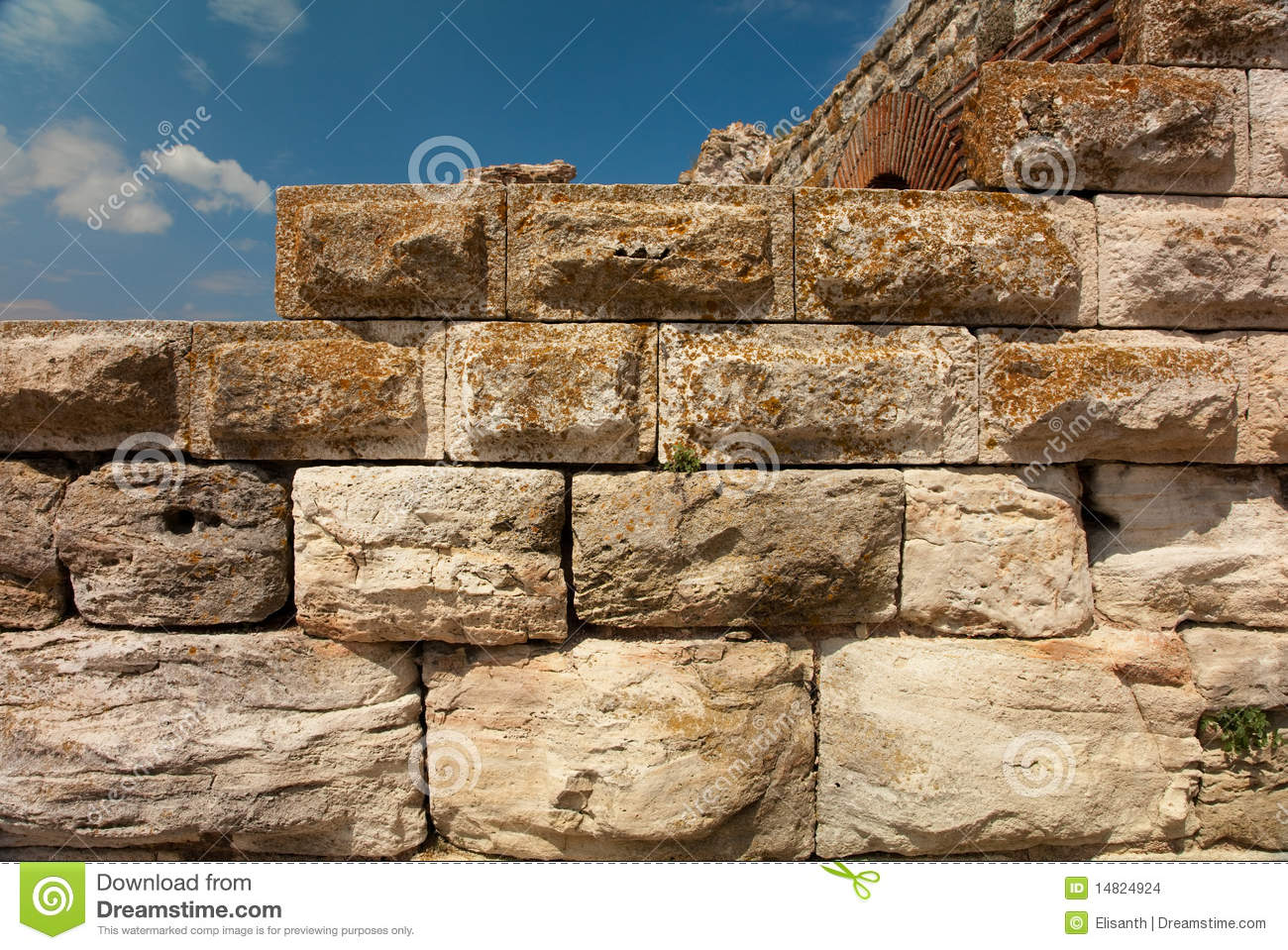 Ancient Stone Wall : Ancient stone wall stock images image
