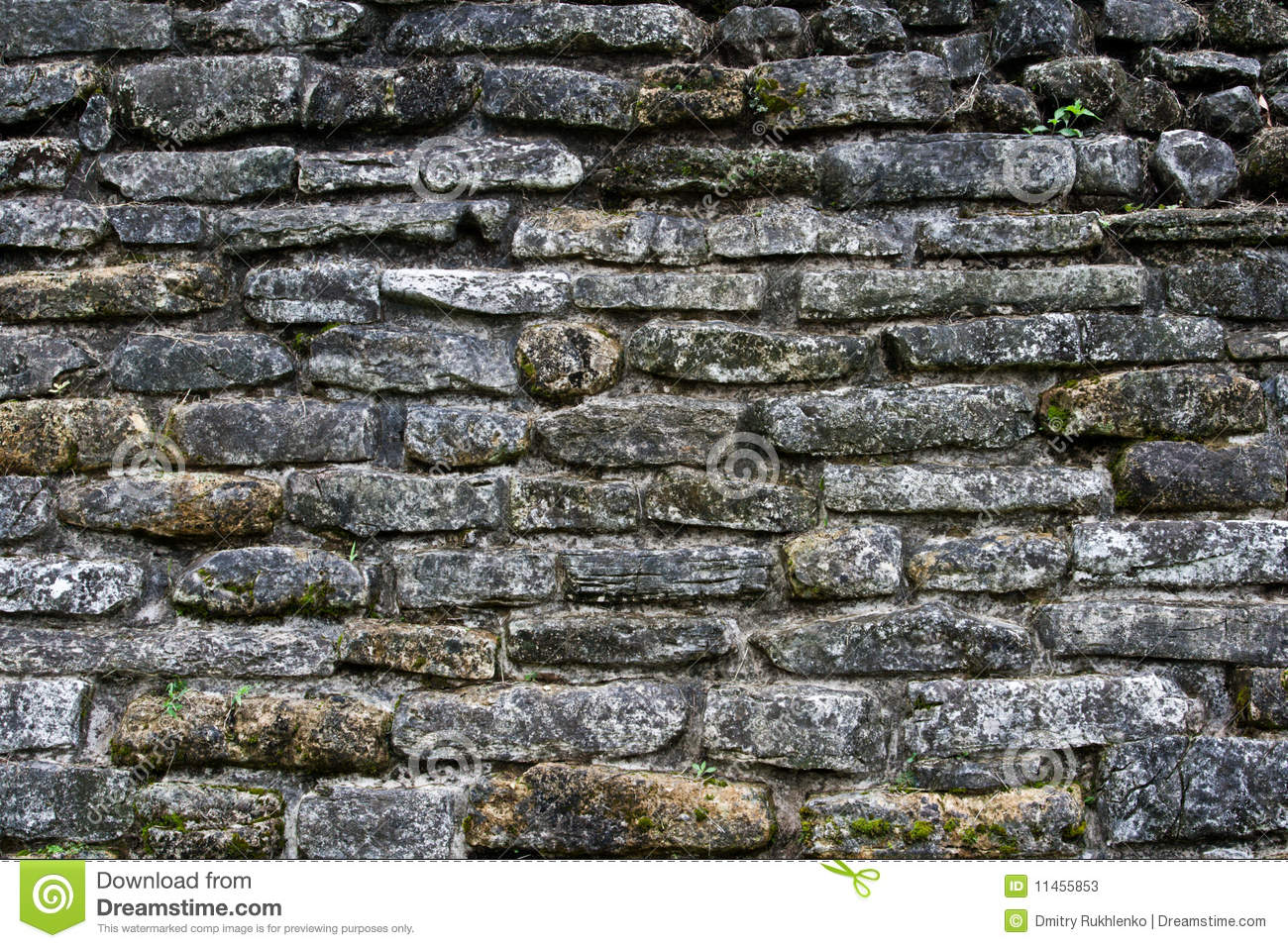 Ancient Stone Wall : Ancient stone wall texture stock image of
