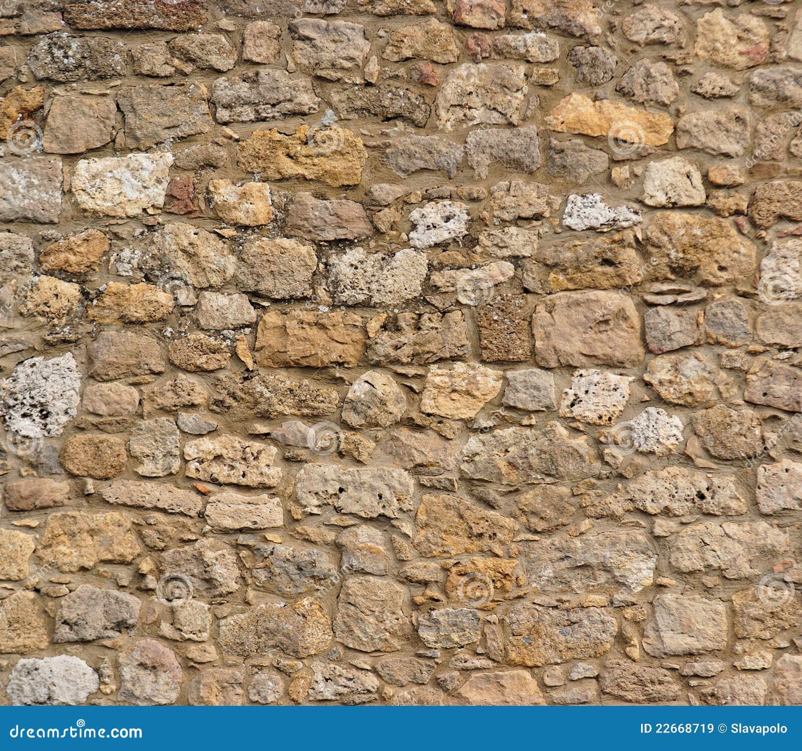 Ancient Stone Wall : Ancient stone wall texture stock image of masonry