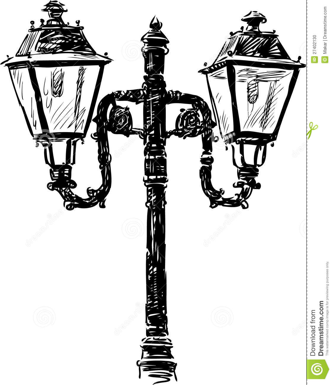 Old fashioned street lights 38