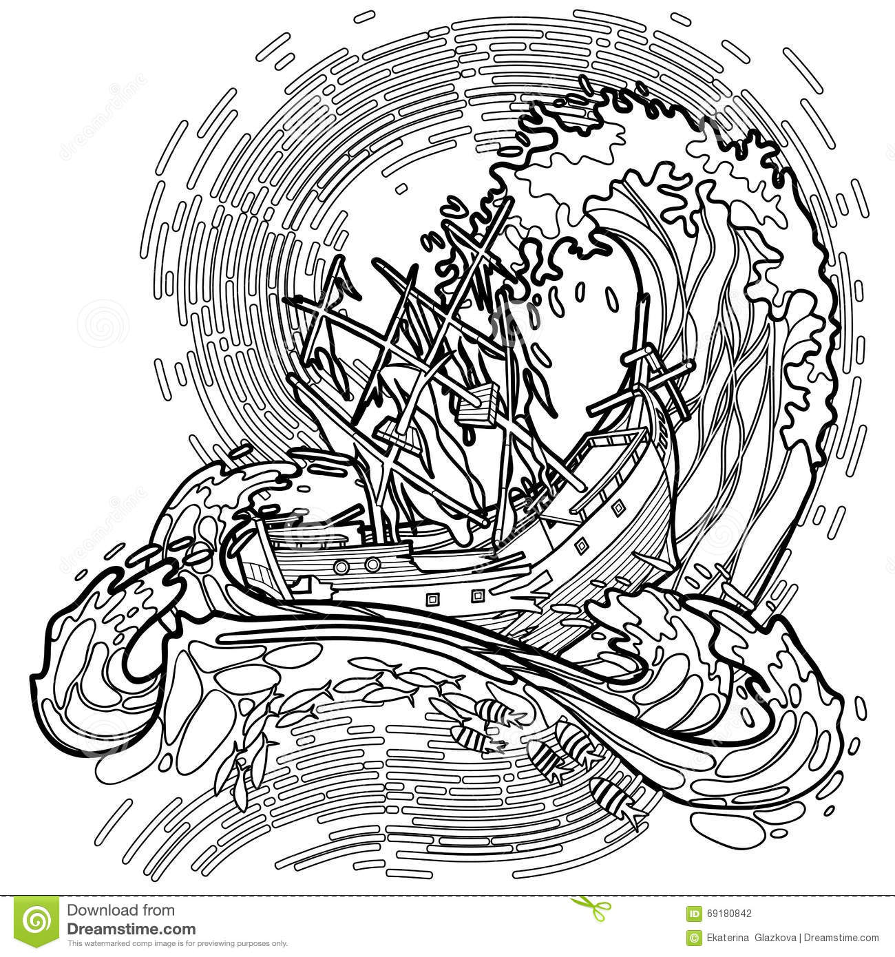 ocean storm coloring pages - photo#20