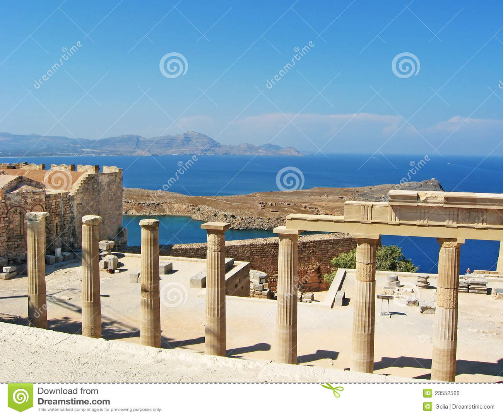 Ancient temple ruins in Rhodos