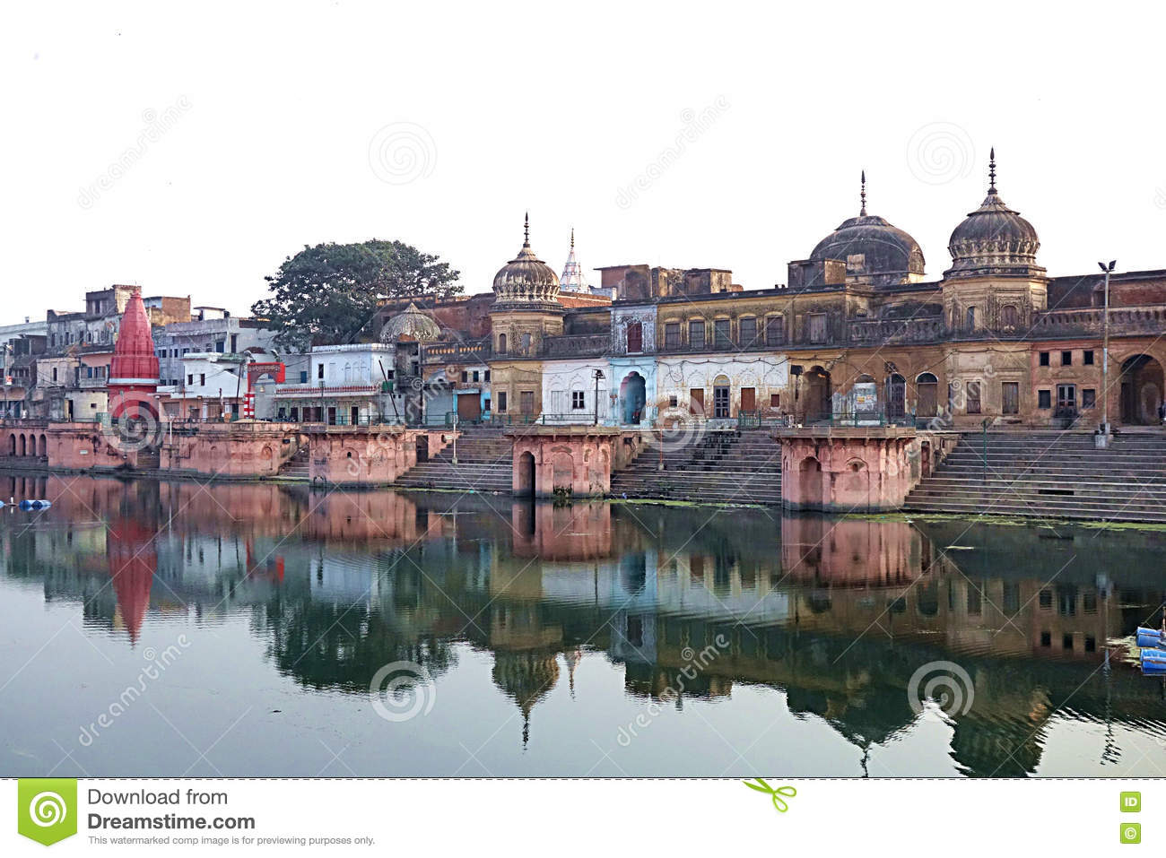 Ancient Temples of India on Water