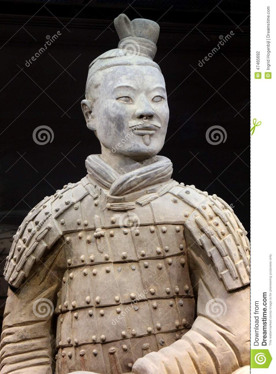 ancient and proudly terracotta warrior  unesco  in close up  xian  china stock photo