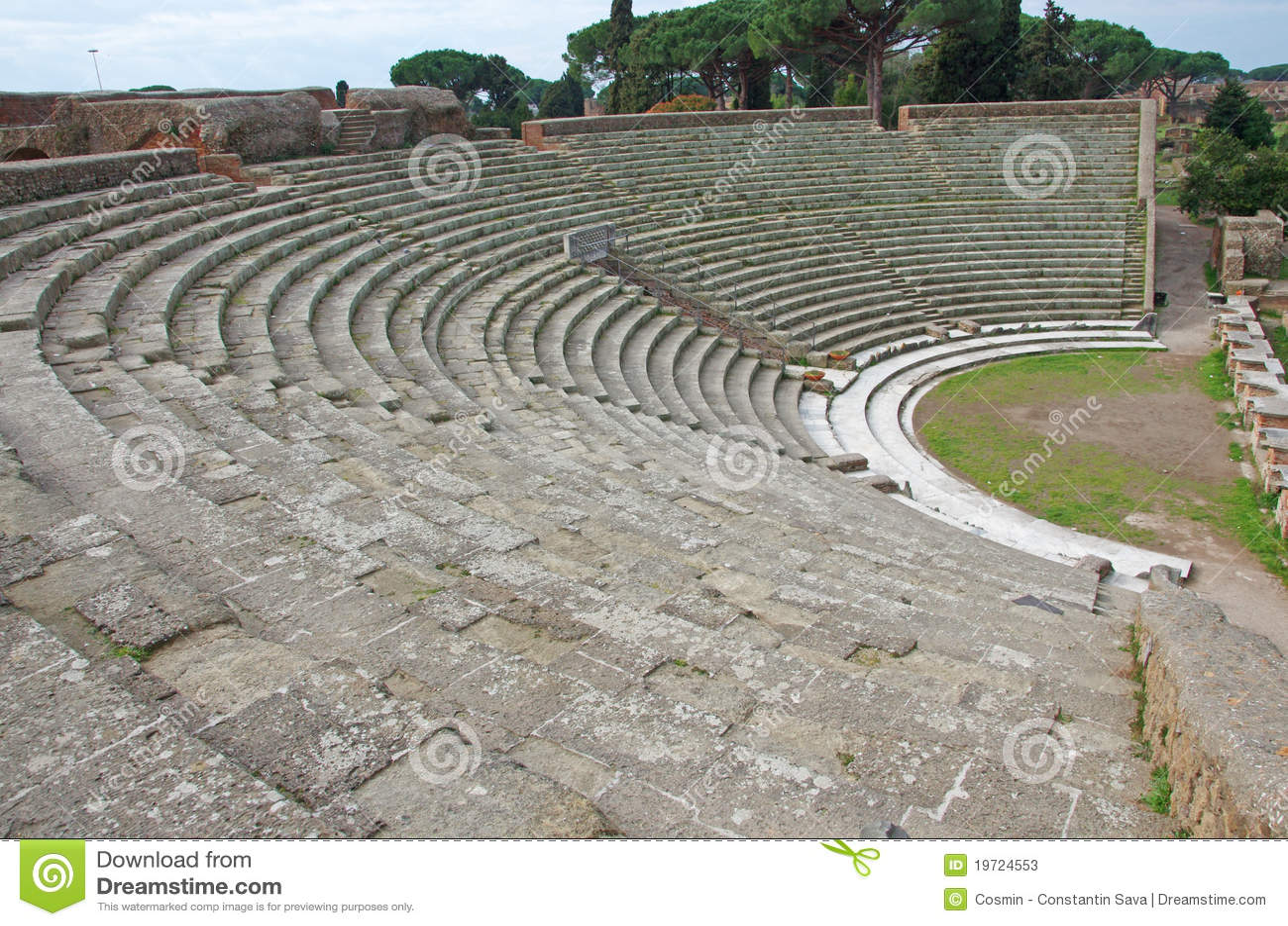 Ancient theatre stock photos image 19724553 for Mr arredamenti ostia antica