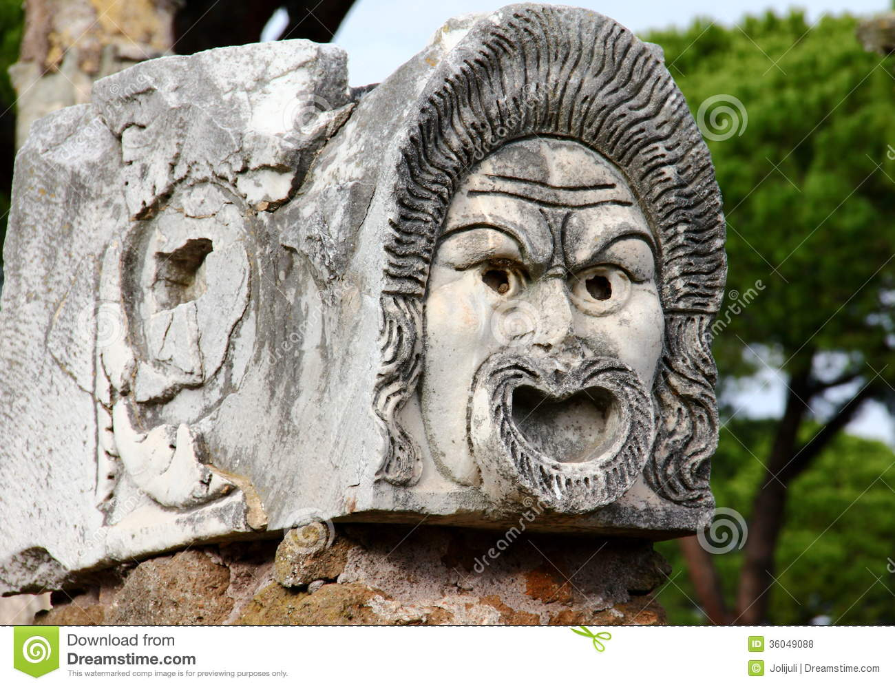 Ancient theatre mask royalty free stock photos image for Mr arredamenti ostia antica
